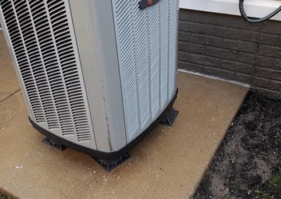 AC unit pad after cleaning