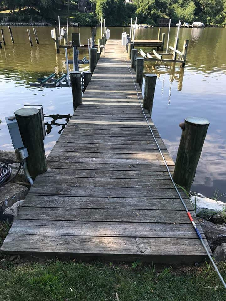 Dock Before Cleaning Extreme Clean Power Washing Llc