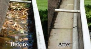 Gutter Cleaning in Pasadena, MD by the pressure washing experts at Extreme Clean Pressure Washing