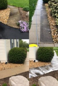 Concrete cleaning by Extreme Clean Power Washing Services