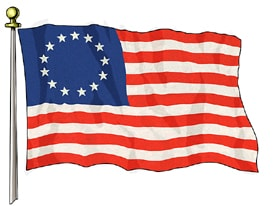 American Flag with 13 stars posted by Extreme Clean Power Washing